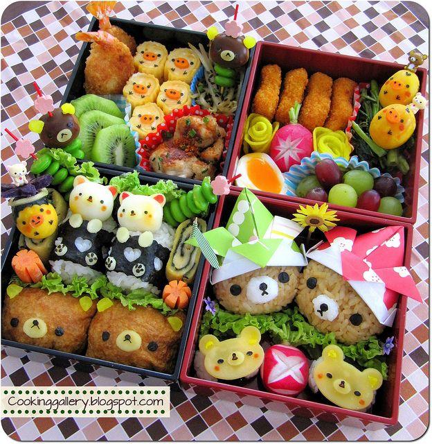 Adorable Rilakkuma Bento by Cooking-Gallery, via Flickr