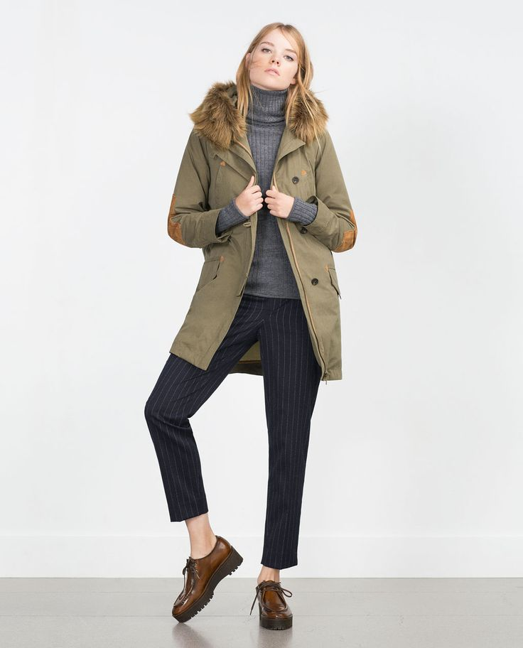 PARKA WITH FAUX FUR HOOD-View all-Outerwear-WOMAN   ZARA United States