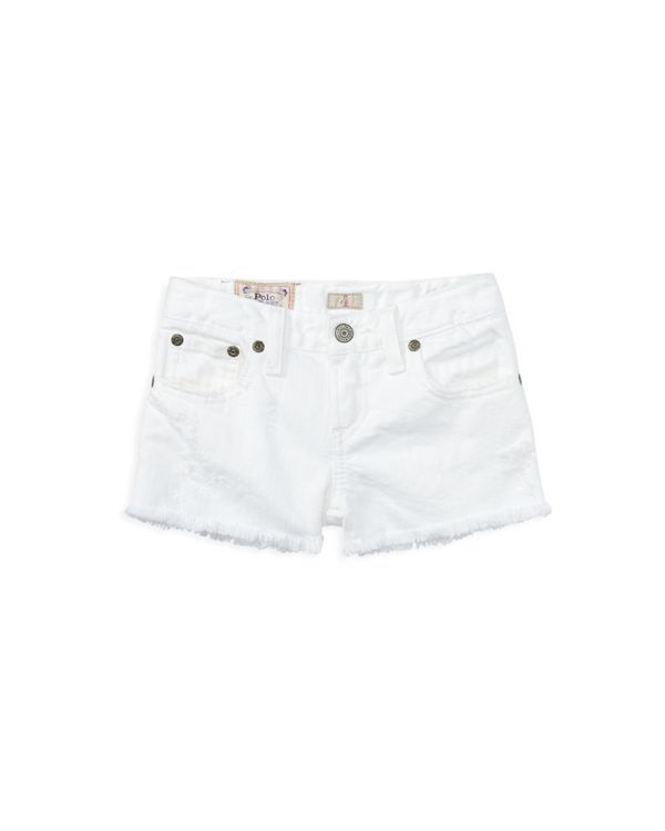 Ralph Lauren Childrenswear Girls' Distressed Cutoff Denim Shorts - Sizes 2-6X