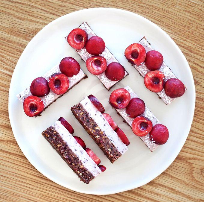 Coconut Cherry Ripe Slice