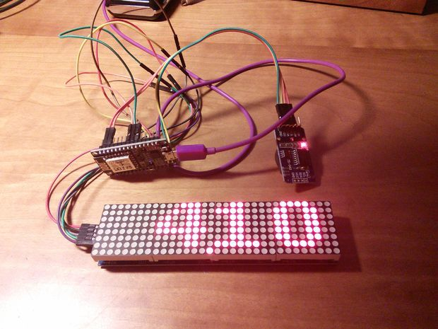 Simple Dot Matrix Clock Using Node MCU | Arduino | Digital clocks