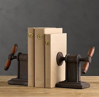 Find an old cool looking tool as a bookend