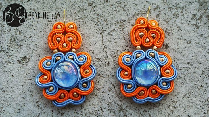 Aztec gold soutache earrings :)  Visit my blog : http://beadmebad.blogspot.com/2014/08/aztec-gold.html