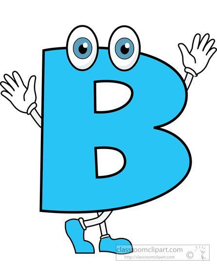 5 Letter Cartoon Characters : Alphabets letter b cartoon alphabet classroom clipart
