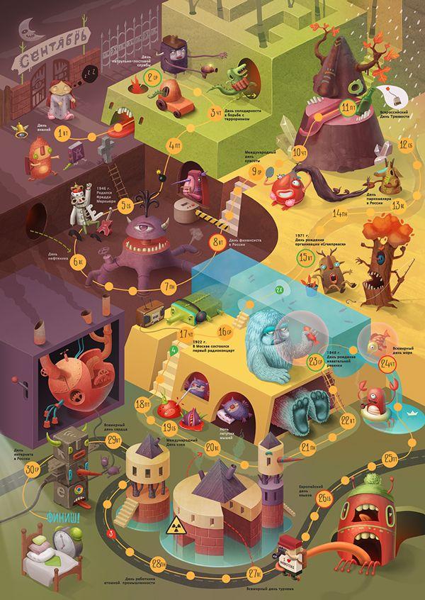 Calendar game on Behance 179 best GameLevel