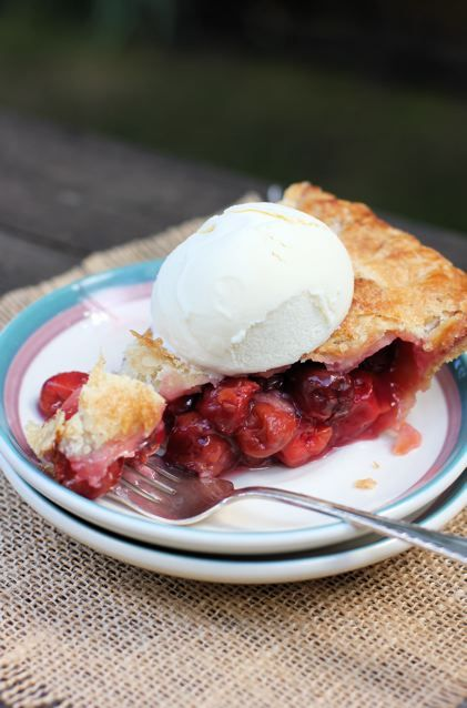 Door County Cherry Pie | Made this Thanksgiving Day 2015, turned out amazing!! Has to be a Door County Cherries though!!! JS