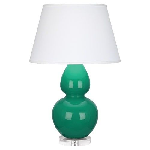 Robert Abbey Double Gourd Emerald Green Table Lamp Pearl | Table Lamps |  Lamps |