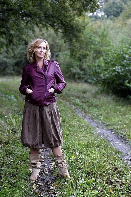 """Купить Длинная юбка бохо """"Мед и арахис"""" - коричневый, однотонный, длинная юбка, юбка в пол"""