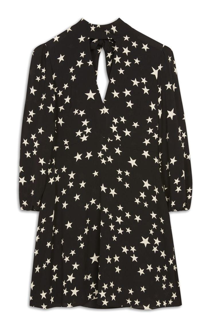 Primark - Star Print Sheer Choker Dress