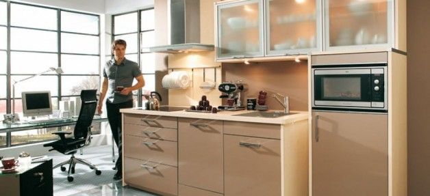 Brown Office Pantry Design