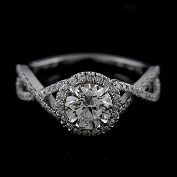 pave round infinity band engagement rings - Google Search