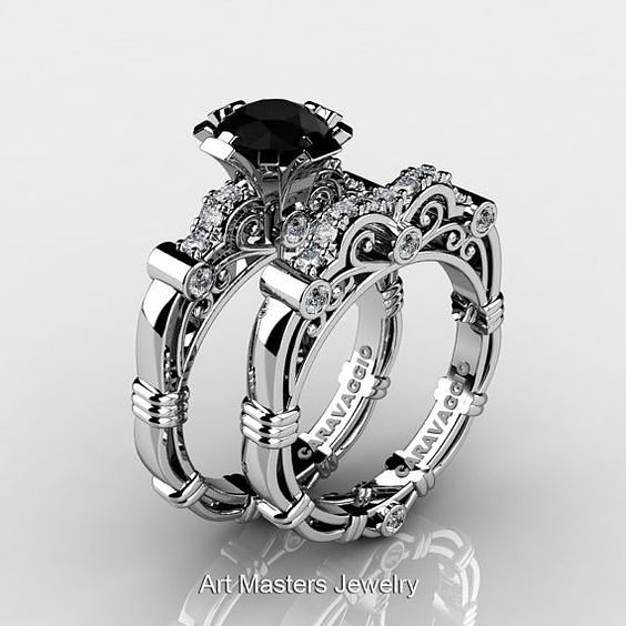 ideas about Black Wedding Rings on Pinterest Black diamond
