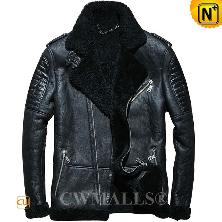 CWMALLS® Men's Sheepskin Shearling Bomber Jacket CW858308 Buy CWMALLS men's shearling bomber jacket crafted from natural, premium sheepskin with fur shearling, it's super warm and stylish. CWMALLS offer Customize for this sheepskin jacket, its featuring exposed shearling collar, leather epaulets, asymmetric zip. www.cwmalls.com PayPal Available (Price: $1268.89) Email:sales@cwmalls.com