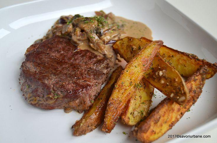 reteta steak diane vita cu ciuperci