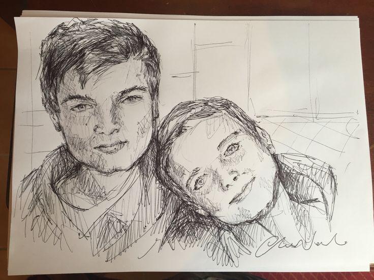 Good guys, super cute brothers  my black pen drawings - Chiara Nardo