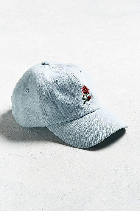 94b532bfda5 UO Denim Rose Baseball Hat