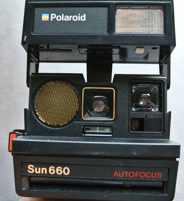 Polaroid Sun 660, Instant Film Camera, Flash Camera, Working Polaroid, Polaroid Flash Camera, Polaroid 600 Film Camera by DomesticTitanVintage on Etsy