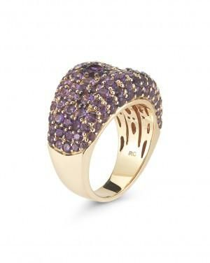 Roberto COIN - Fantasia Amethyst Ring. 18K Rose Gold  with Pavé Amethyst. Approx. 13.5mm. •$3,100