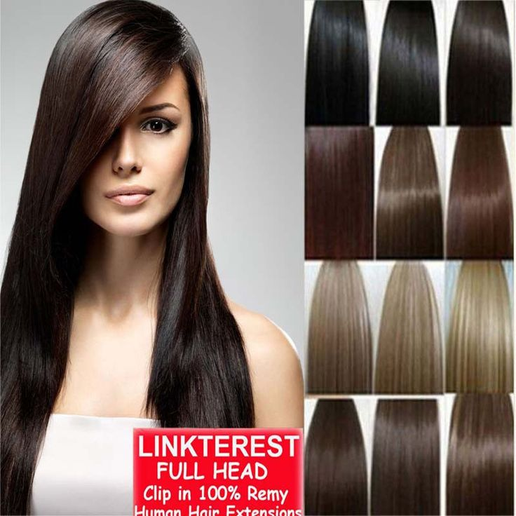 """7pcs 15"""" 18"""" 20"""" 22"""" Clip In Remy Real 100% Human Hair Extensions Full Head N206 