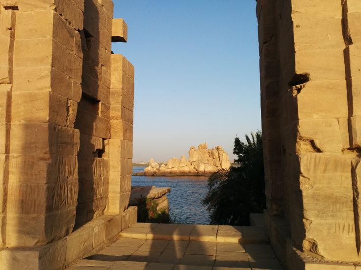 A view from inside the Philae temple on the island in the middle of the nile!