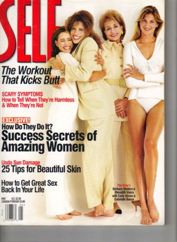 May 1998 cover with Meredith Vieira, Carly Simon, Barbara Walters, and Gabrielle Reece