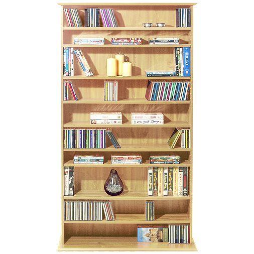 Tesco direct: Harrogate - 760 CD / 318 DVD / Blu-ray Media Storage Shelves - Beech
