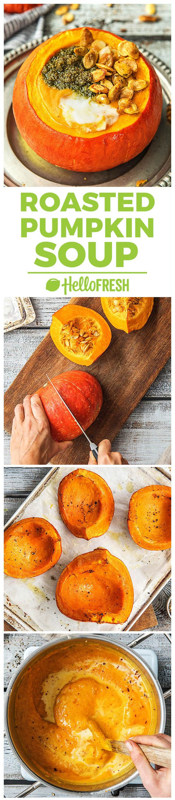 Roasted pumpkin soup recipe | More easy and healthy fall squash meals on blog.hellofresh.com