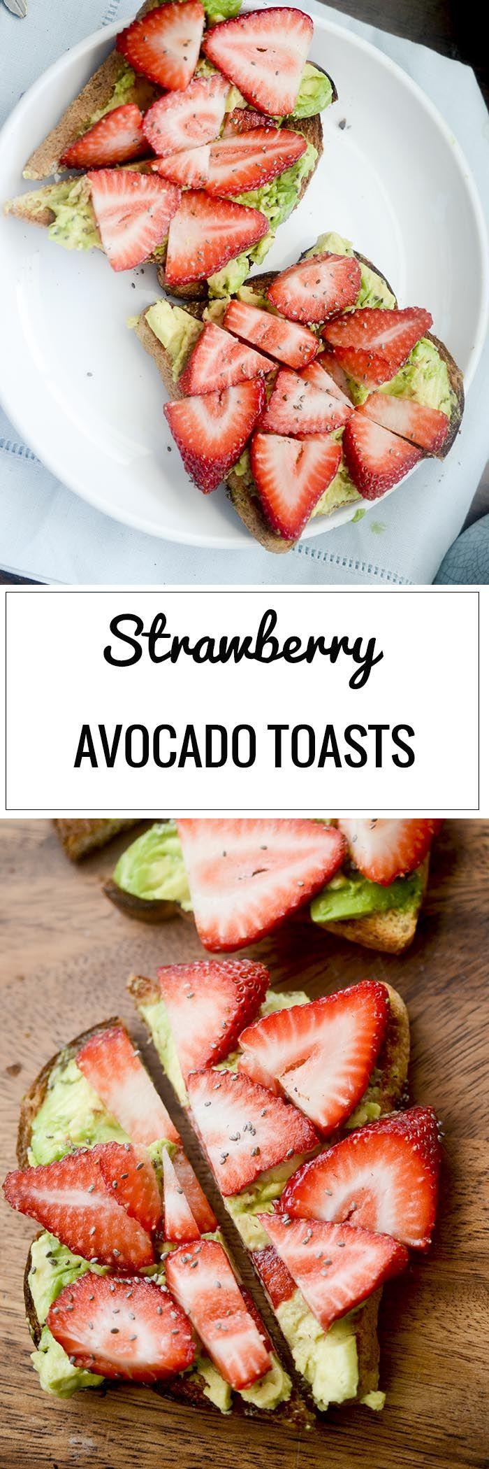 Strawberry Avocado Toasts - Recipe Diaries