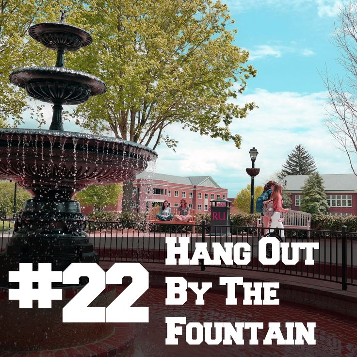 #22: The Radford University Fountain is an iconic piece of the landscape of the campus. When the weather is warm and water is flowing, there's nothing better than relaxing around this beautiful centerpiece.