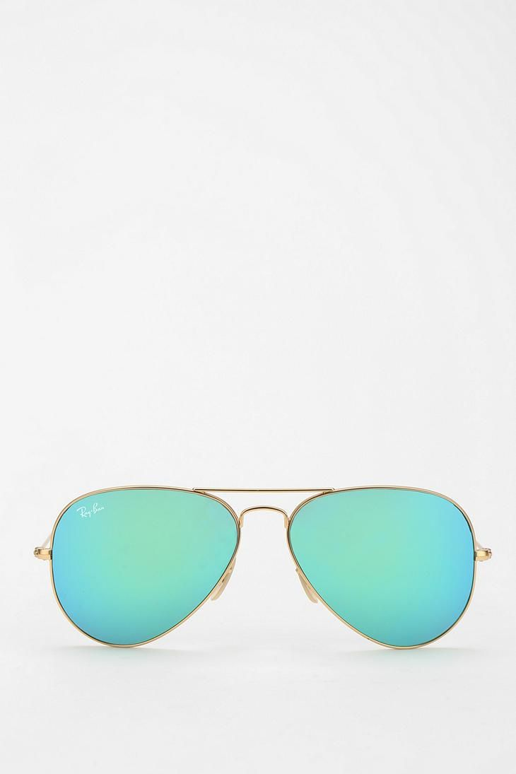 Ray-Ban mirrored Aviator sunglasses #urbanoutfitters