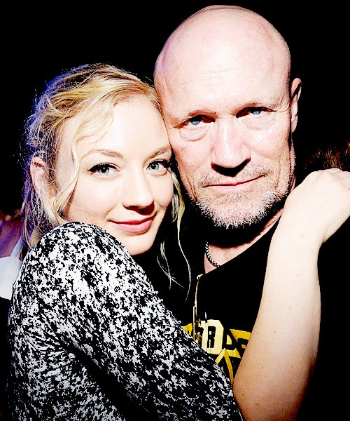 Emily Kinney & Michael Rooker // The Walking Dead // Beth Greene & Merle Dixon