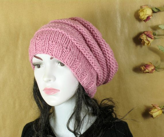 Slouchy Hat Warm Winter Beanie Springs Hat by recyclingroom