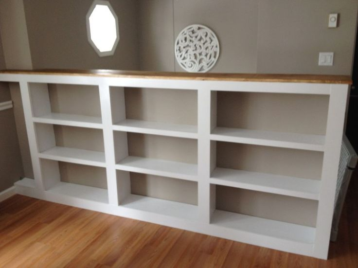 What a great idea for an open staircase conversion. Hometalk :: Turn Your Ordinary Railings Into Beautiful Built-ins!