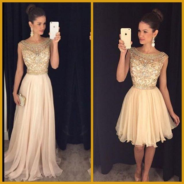 Resultado de imagem para vestidos 2 em 1 curto e longo