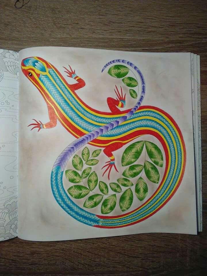 Colored Pencil Tutorial Adult Coloring Books Colouring Big People Mix Lizards Pencils Folk Art