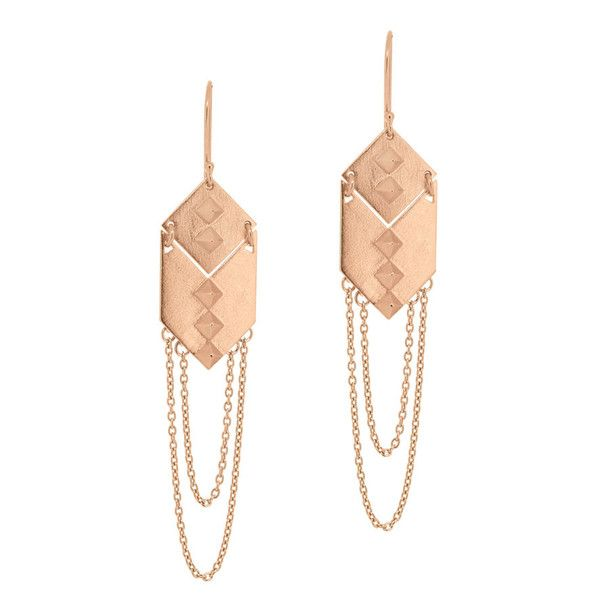 Linda Tahija rose gold earrings