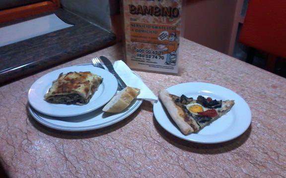 Pizza lamprea (Pizza Bambino). Tapealamprea - Pontecesures. Quedamosdetapas