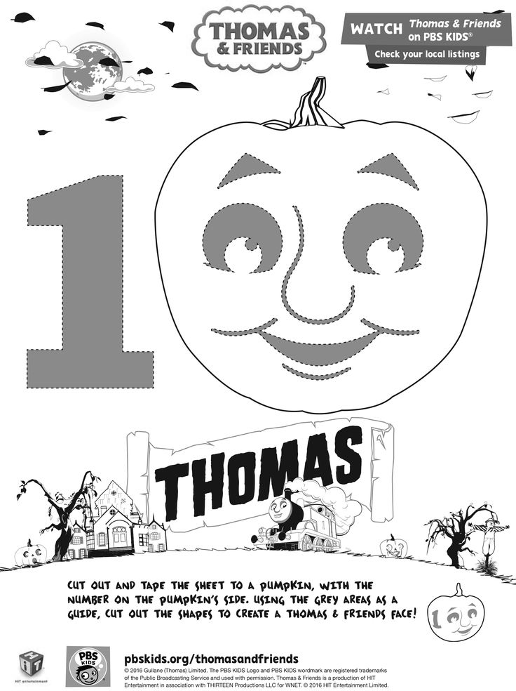 103 best thomas friends images on pinterest friend for Thomas pumpkin template