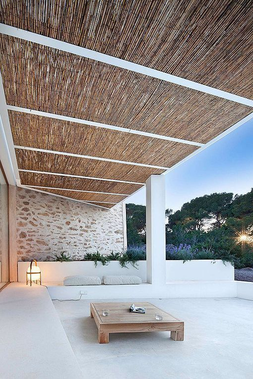 Casa payesa en Formentera, porche