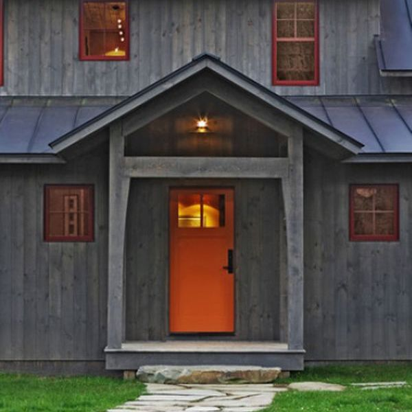 Exterior Shiplap Siding In A Translucent Stain Gives A