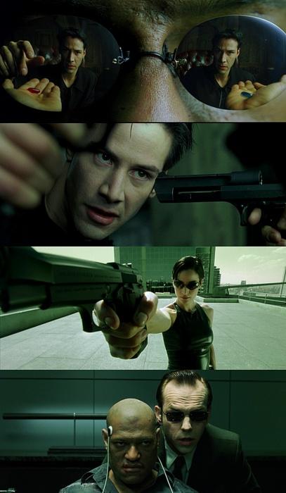 The Matrix trilogy (1999, 2003) | dir. A. and L. Wachowski | dop. B. Pope