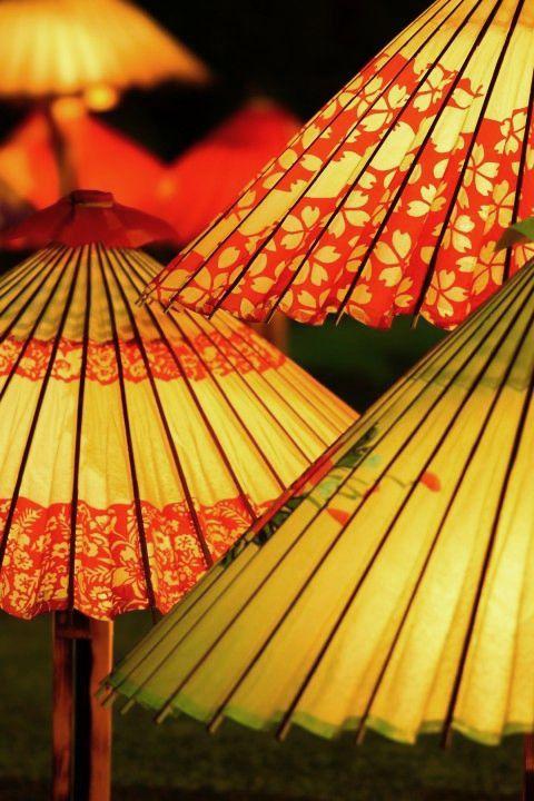 Japanese umbrellas,