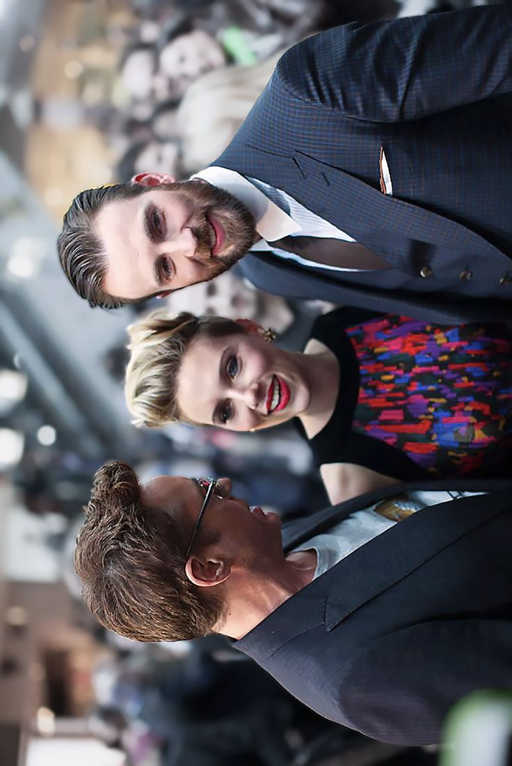"Robert, Scarlett and Chris E., London premiere of ""Avengers: Age of Ultron"" - 2015."