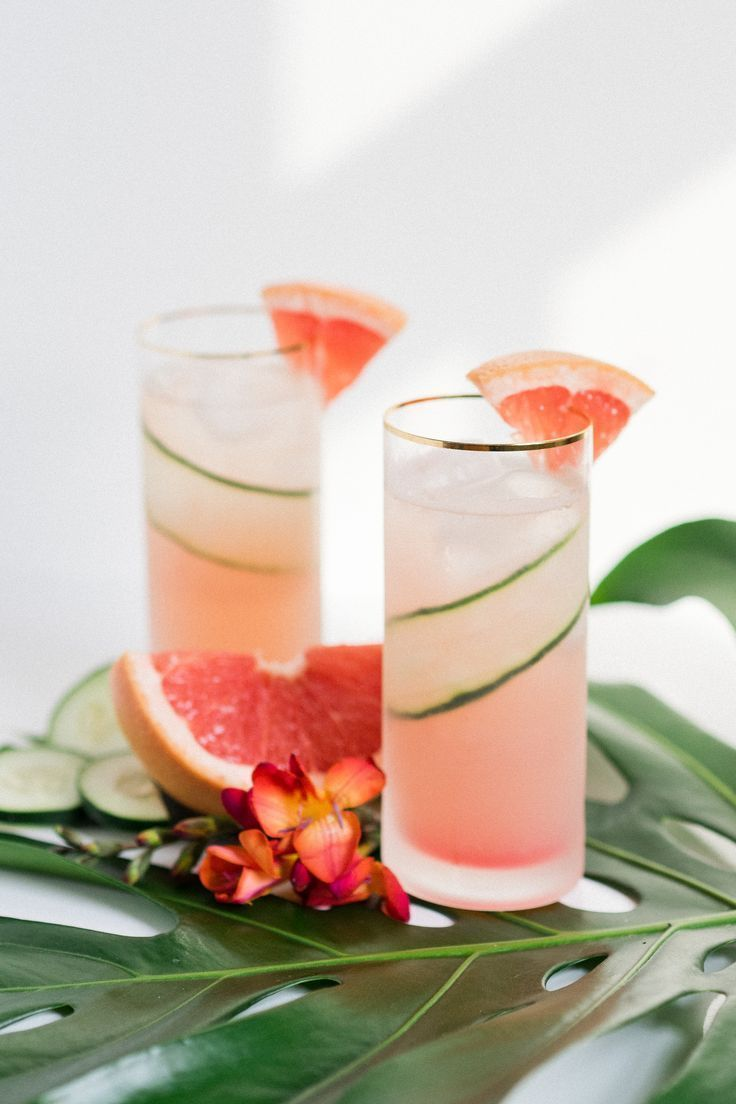 Paradise Found: A Refreshing Grapefruit Cucumber Gin Cooler that Tastes Like Vacation