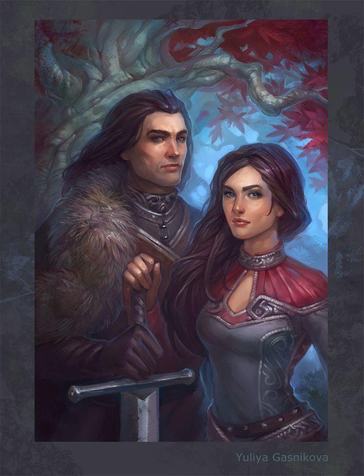 Eddard Stark and Lyanna Stark  Illustration by gasnikova