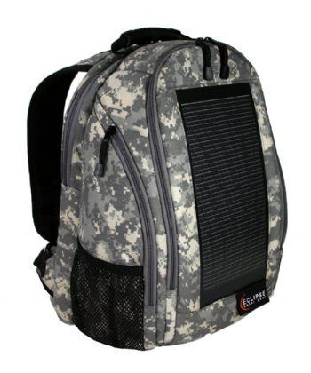 Charge your smartphone and tablet with the Eclipse Solar Backpack, the ultimate backpack for your mobile power needs.