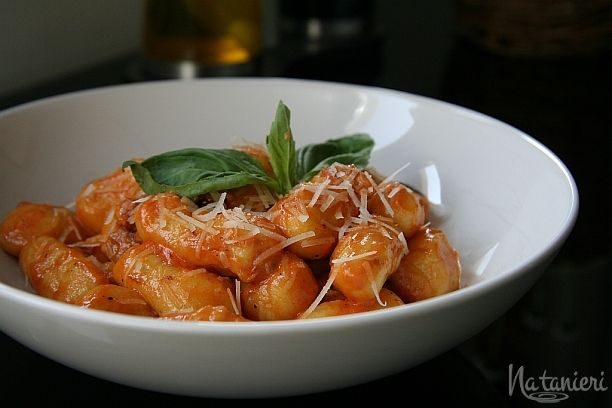 gnocchi s omáčkou zo sušených paradajok