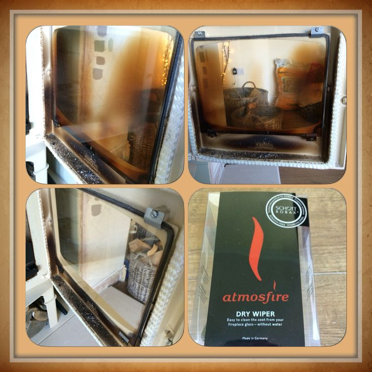 Finally found a brilliant way to clean my wood burner glass.  #atmosfiredrywiper