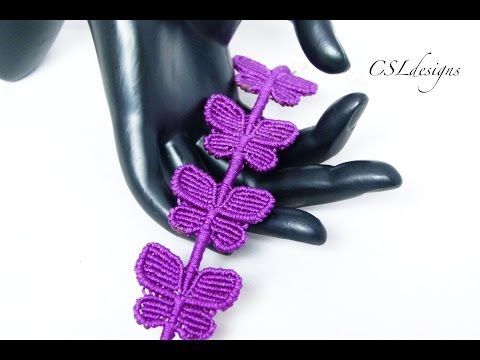 Butterfly macrame bracelet - YouTube