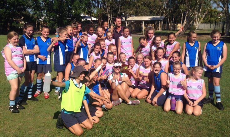 Mountian Creek inaugural #GirlsRock AFL Sheild!  #girlsplaytoo